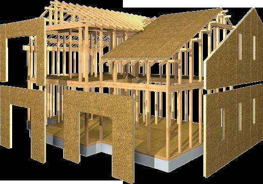 壁・床・天井が一体化した箱形を構成する強靭なモノコック構造