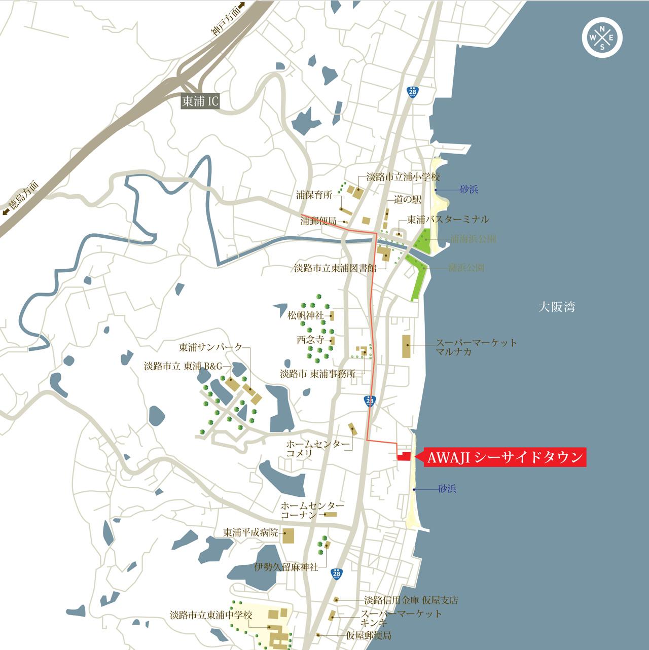 淡路島海の見える土地