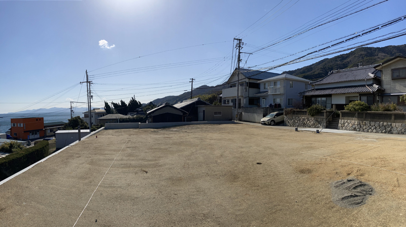 淡路市釜口にある高台から海を眺める事ができる土地販売開始!
